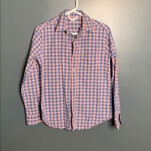 CrewCuts gingham dress shirt